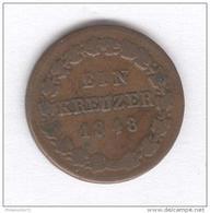 1 Kreuzer Allemagne - Nassau - 1848 - [ 1] …-1871 : German States