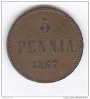 5 Penniä Finlande - 1867 - Finland
