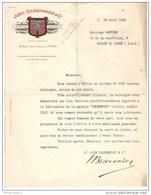Courrier Underwood Proposant L'envoi D'un Catalogue - 1912 - Belle Entête - France