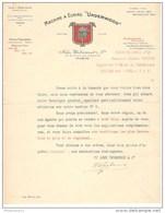 Courrier Underwood Accompagnant L'envoi D'un Catalogue - 1912 - Belle Entête - France