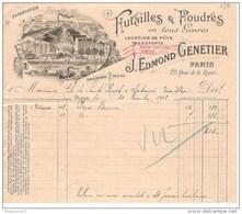 Facture Edmond Genetier Paris - Futailles Et Foudres En Tous Genres - 1902 - Belle Entête - France