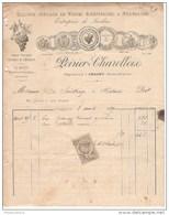 Facture Poirier - Charollois à Chagny - Culture Spéciale De Vignes Américaines Et Françaises 1889 - France