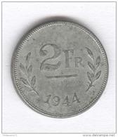 """2 Francs Belgique / Belgium 1944 """" Libération """" - 1934-1945: Leopold III"""