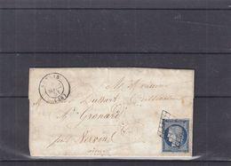 France - Lettre De 1851 - Oblit Senlis - Exp Vers Gronard - Destination Rare - Cachet De Vervins - - 1849-1850 Cérès
