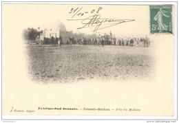 CPA Coloniale Algérie - Extrème Sur Oranais - Colomb Béchar - Fête Du Makzen - Circulée En 1908 - Bechar (Colomb Béchar)