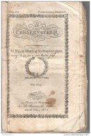 Journal Le Conservateur Juin 1819 - Ultra Royaliste - Editeur Le Normand Fils - Journaux - Quotidiens