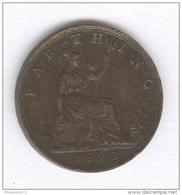 1 Farthing Grande Bretagne / United Kingdom 1893 - VictoriaI - TTB - B. 1 Farthing