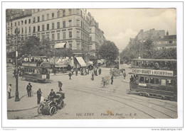 CPA Lyon - Place Du Pont - Circulée 1911 - Other