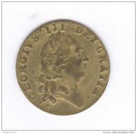 Jeton De Jeu Anglais - Spade Half Guinea - Daté 1701 - Royaume-Uni