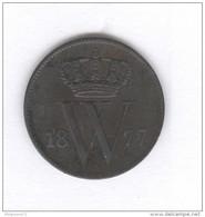 1 Cent Pays-Bas / Netherland 1877 - TTB - 1849-1890 : Willem III