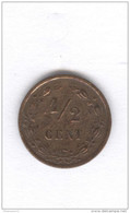 1/2 Cent Pays-Bas / Netherland 1884 - TTB - 1849-1890 : Willem III