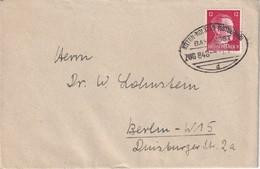 ALLEMAGNE 1942 LETTRE AVEC CACHET FERROVIAIRE STETTIN-KOLBERG - Deutschland