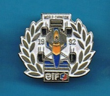 PIN'S //  ** WORLD CHAMPION // 1992 // ELF ** - F1