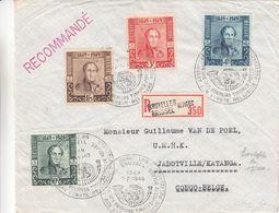 Belgique - Lettre Recom De 1949 ° - Oblit Bruxelles - Exp Vers Jadotville - Katanga - Avec Vignette Bepitec - Belgio