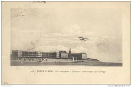 """CPA Berck Plage - Un Aéroplane """"Caudron"""" Atterrissant Sur La Plage - Circulée En 1915 - Berck"""