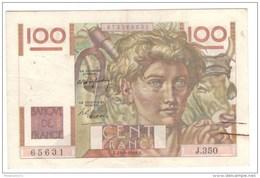 100 Francs Jeune Paysan 1949 - 1871-1952 Anciens Francs Circulés Au XXème