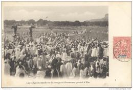 CPA Coloniale - Mali - Les Indigènes Massés Sur Le Passage Du Gouverneur Général à Kita - Circulée - Mali