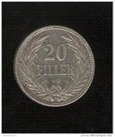 20 Filler Hongrie 1908 - Hungary