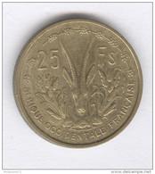 25 Francs Afrique Occidentale Française 1956 - Coins