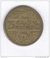 25 Piastres Liban 1952 - Libano