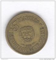 5 Piastres Liban 1955 - Liban