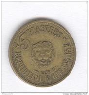 5 Piastres Liban 1955 - Libano