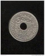 5 Centimes Tunisie 1938 - Tunisia