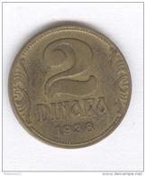 2 Dinara Yougoslavie 1938 - Yugoslavia