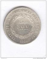 500 Réis Brésil 1860 - TTB - Brésil