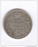 1 Roupie / Rupee Inde / India 1890 - Victoria - TTB - India