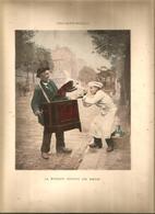 Lithographie , 31 X 24 ,  Signée CHOCARNE-MOREAU , La Musique Adoucit Les Noeurs,   Frais Fr 1.95 E - Lithographies