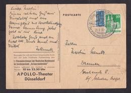 Germany: Postcard, 1950, 1 Stamp, Tax Steuermarke, Cancel & Card: First Colour Movie, Schwarzwaldmadel, Cinema (damaged) - [7] West-Duitsland