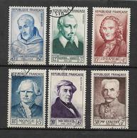 France Timbres De 1953  Célébrités  N°945 A 950 Oblitérés Cote 68€ - Used Stamps