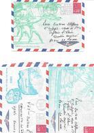 1972-3 ENVELOPPES ILLUSTREES TAHITI Par Avion-Cachet Poste Aux Armees-BE -RARE - Lettres & Documents