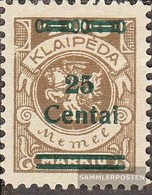 Memelgebiet 220 With Hinge 1923 Supplementary Issue - Klaïpeda