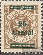 Memelgebiet 220 With Hinge 1923 Supplementary Issue - Memelgebiet