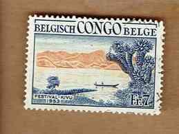 Congo Belge.(COB-OBP)  1953 - N°326    *FESTIVAL DE KIVU. PAYSAGES*    7F   Oblitéré - Congo Belge