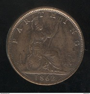 1 Farthing Grande Bretagne / United Kingdom Victoria 1862 TTB+ - B. 1 Farthing