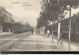CPA Allerey - Gare - Non Circulée - Autres Communes