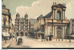 CPA  Dijon - Bourse Du Commerce - Eglise Saint Michel -  Circulée 1909 - Dijon