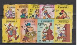 Disney Dominique Dominica 1979 Série 621-29 9 Val ** MNH - Disney