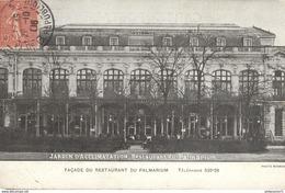 CPA Paris - Jardin D'Acclimatation - Restaurant Du Palmarium -  Circulée - Cafés, Hôtels, Restaurants