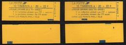 LIBERTE 2.20 F. ROUGE / 2 CARNETS DE 22 F. + VARIETE / LIRE DETAIL (ref 7897) - Markenheftchen