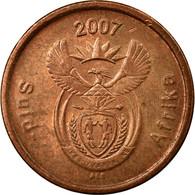 Monnaie, Afrique Du Sud, 5 Cents, 2007, Pretoria, TTB, Copper Plated Steel - Afrique Du Sud