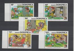 Disney Dominique Dominica 1985 Série 881-85 5 Val ** MNH - Disney