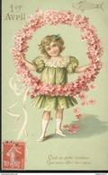 CPA 1er Avril Gauffrée- C'est Un Porte-Bonheur Que Vous Offre Mon Coeur - Circulée 1909 - April Fool's Day