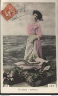 CPA 1er Avril - On Attend L'acheteur - Circulée 1911 - April Fool's Day