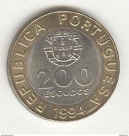 """200 Escudos CC Portugal 1994 """"Lisbonne Capitale Européenne De La Culture"""" - Portugal"""