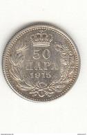 50 Para Serbie / Serbia 1915 TTB - Serbie