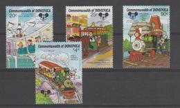 Disney Dominique Dominica 1987 Série 987-90 4 Val ** MNH - Disney
